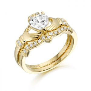 9ct Gold Claddagh Ring Set-CL34
