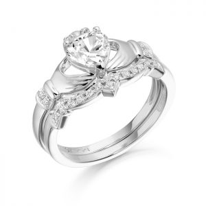 9ct Gold Claddagh Ring Set-CL34W