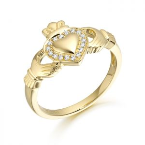 9ct Gold Claddagh Ring-CL32