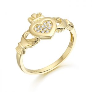 9ct Gold Claddagh Ring-CL33