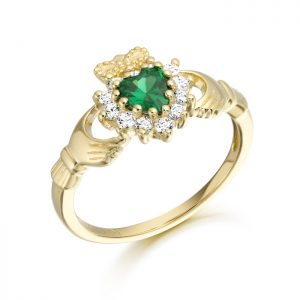 9ct Gold Claddagh Ring-CL36
