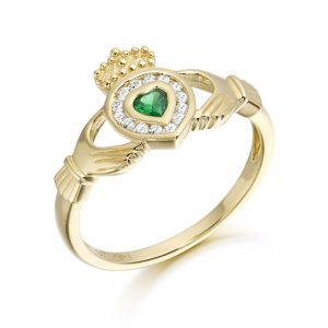 9ct Gold Claddagh Ring-CL38
