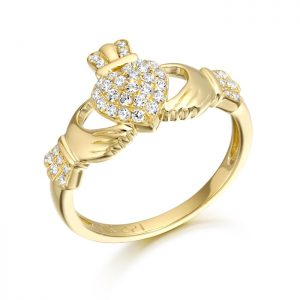 9ct Gold Claddagh Ring-CL39