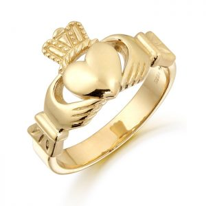 Gold Gents Claddagh Ring-136A