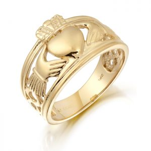Gold Gents Claddagh Ring-137A