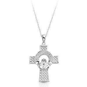 Claddagh Cross-C126W
