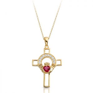 Gold Claddagh Cross-C125R