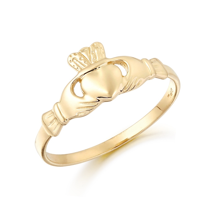 9ct Gold Kids Claddagh Ring - CL1