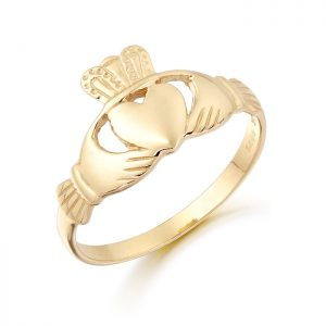Gold Claddagh Ring-CL4