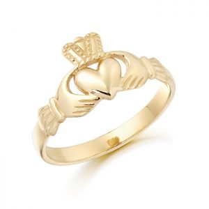 Gold Claddagh Ring-CL5