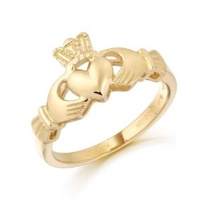 Gold Claddagh Ring-CL6