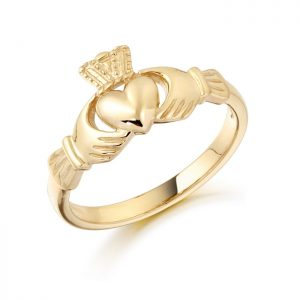 Gold Claddagh Ring-CL8