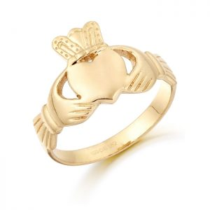 Gold Claddagh Ring-CL18