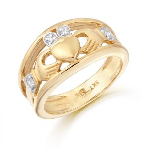 Ladies Gold Claddagh Ring-CL21