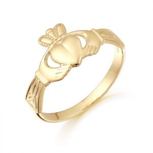 Gold Claddagh Ring-CL24