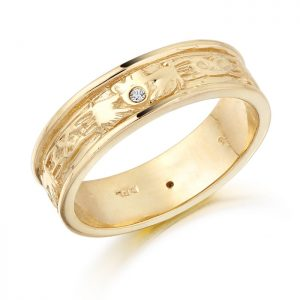 Claddagh Wedding Band-CL23