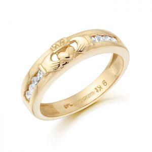 Claddagh Wedding Band-CL27