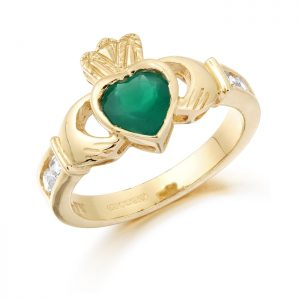 Gold Claddagh Ring-CL102G