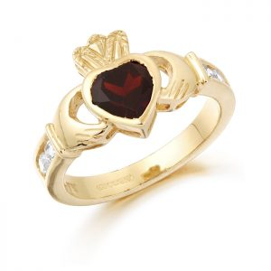 Gold Claddagh Ring-CL102GAR