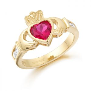 Gold Claddagh Ring-CL102R