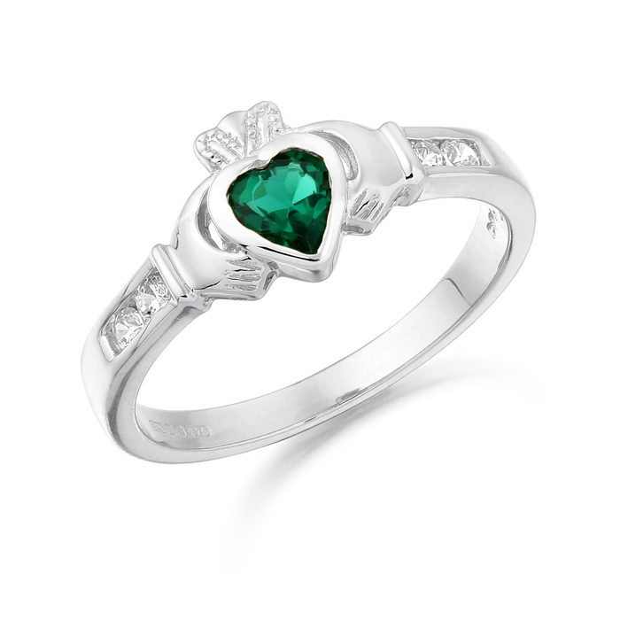 An exquisite 9ct White Gold Claddagh Ring to enhance your Irish Heritage fashion status - CL100GW