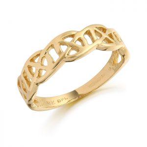 9ct Gold Celtic Ring-3241