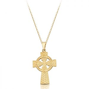 9ct Gold Celtic Cross - C05