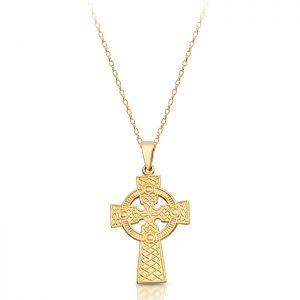 9ct Gold Celtic Cross - C05