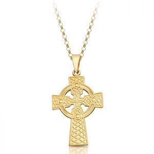9ct Gold Celtic Cross - C06
