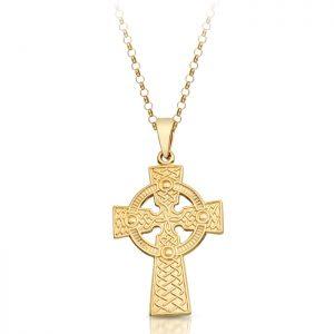9ct Gold Celtic Cross - C06