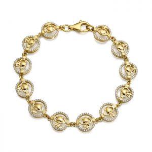9ct Gold Claddagh Bracelet - CLB31