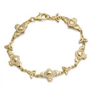 9ct Gold Claddagh Bracelet - CLB32