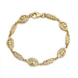 9ct Gold Claddagh Bracelet - CLB35
