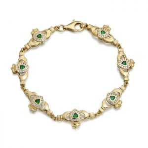 9ct Gold Claddagh Bracelet - CLB38