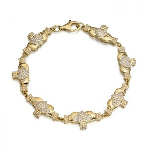 9ct Gold Claddagh Bracelet - CLB39