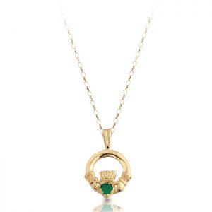 Gold Claddagh Pendant-P130G