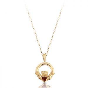 Gold Claddagh Pendant-P130GAR