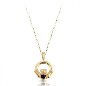Gold Claddagh Pendant-P130S