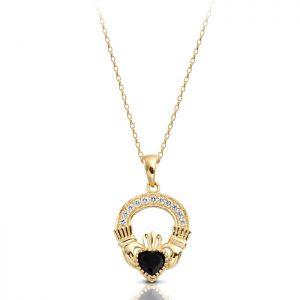 Gold Claddagh Pendant-P188S