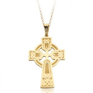9ct Gold Celtic Cross - C04
