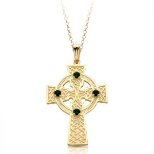 9ct Gold Celtic Cross - C02