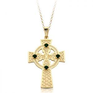 9ct Gold Celtic Cross - C02