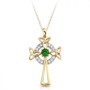 Gold Celtic Cross-C01