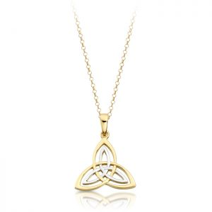 Gold Celtic Pendant-P028