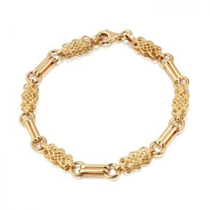 9ct Gold Celtic Bracelet-B02
