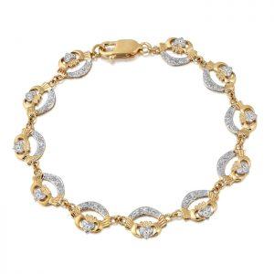 Gold Claddagh Bracelet - CLB4CZ