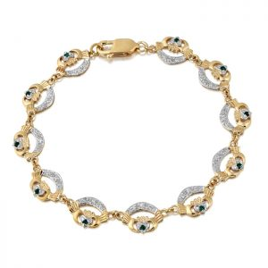 Gold Claddagh Bracelet - CLB4G