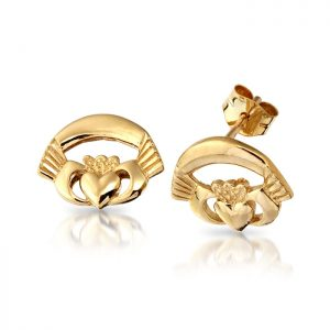Gold Claddagh Earrings-CLE