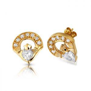 Claddagh Earrings-E187