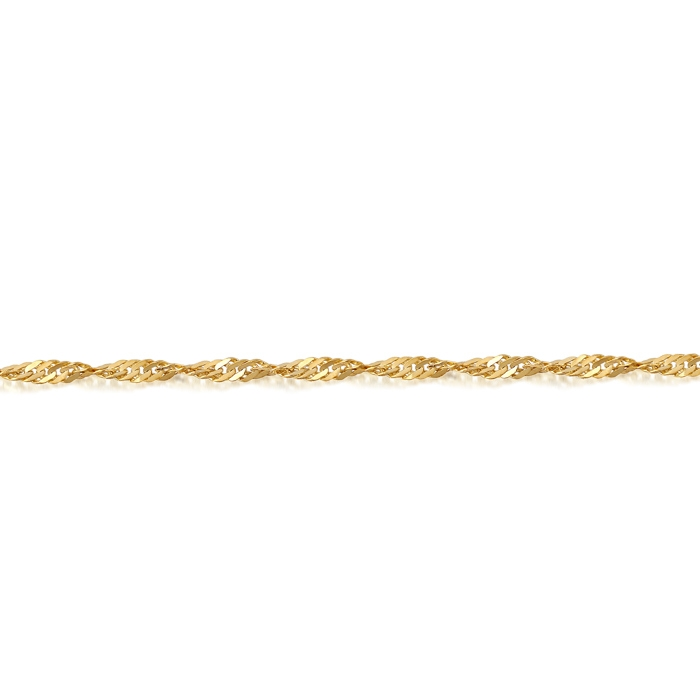 9ct Gold Twisted Curb Chain - DISCO20